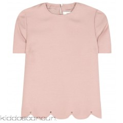 Valentino Wool and silk top - Womens Short Sleeved T-Shirts P00261780