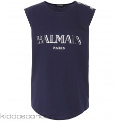 Balmain Printed cotton top - Womens Sleeveless P00289962