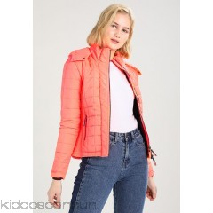 Superdry HOODED BOX QUILT FUJI - Light jacket - acid coral - Womens Lightweight Jackets SU221U007-G11