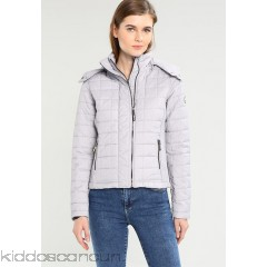 Superdry HOODED BOX QUILT FUJI - Light jacket - grey cloud marl - Womens Lightweight Jackets SU221U007-C11
