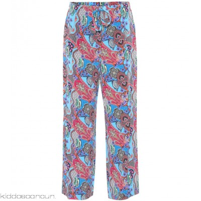 Etro Printed silk trousers - Womens Wide-leg Trousers P00297459