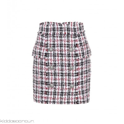 Balmain Tweed miniskirt - Womens Mini Skirts P00289800
