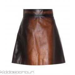 Miu Miu Leather miniskirt - Womens Mini Skirts P00312293
