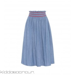 Miu Miu Cotton midi skirt - Womens Midi Skirts P00298205