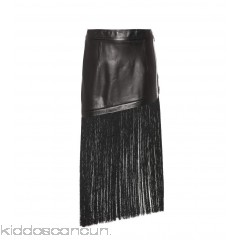 Helmut Lang Fringed miniskirt - Womens Leather Skirts P00290683