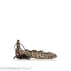 ANNIEL - Women - Lace-up leopard fur-effect ballet pumps vFyrs26x