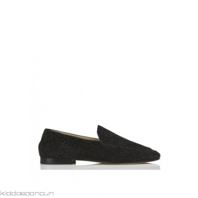 ANNIEL - Women - Leather slip-on shoes with sequins gmRfzTUV