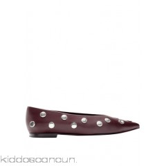 BIMBA Y LOLA - Women - Pointed leather ballet pumps with studs WwoHyoU2