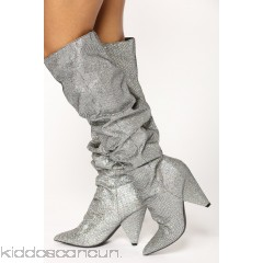 Hollywood Heel Boot - Pewter - Womens Boots RH46nEST
