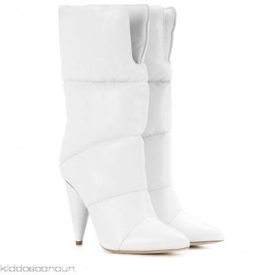 Jimmy Choo X Off-White Sara 100 leather boots - Womens Boots P00315763