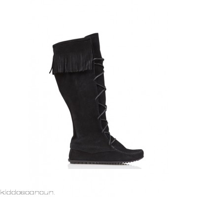 MINNETONKA - Women - High lace-up boots with fringing s368hRYd