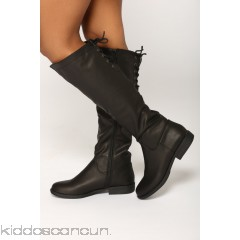 Montana Knee High Boot - Black - Womens Boots hJu3s6yA