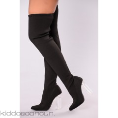 Olivia Over The Knee Boot - Black - Womens Boots AxGQojQj
