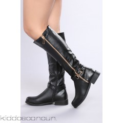 Tessa Knee High Boot - Black - Womens Boots YqABcPsX