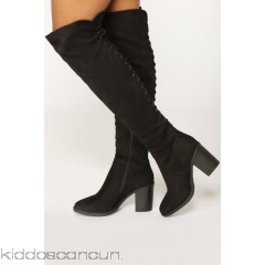 Tie Me Up Boot - Black - Womens Boots tU1RcDaK