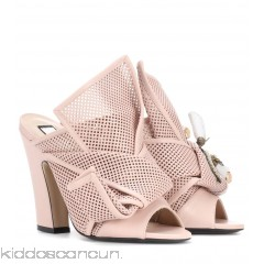 N°21 Knotted leather open-toe pumps - Womens Mules P00288699