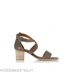 ANTHOLOGY PARIS - Women - Heeled suede sandals qXAa2cls