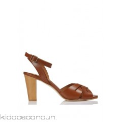ANTHOLOGY PARIS - Women - High leather sandals with crossover straps XFESJUCK