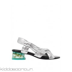 BIMBA Y LOLA - Women - Metallic sandals with see-through heel MeCNFICY