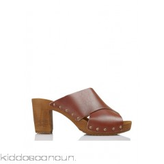 BOSABO - Women - Heeled leather clogs with criss-cross straps GkybAR5i