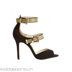 KAREN MILLEN - Women - High suede sandals with metal detailing 6NuACtBq