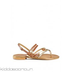 LES TROPEZIENNES - Women - Cumin flat leather sandals ljZlbiVX