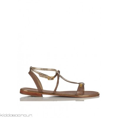 LES TROPEZIENNES - Women - Haquina dual-material leather sandals oCqaFEdv