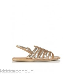 LES TROPEZIENNES - Women - Heripo flat metallic leather sandals weRbiPiJ