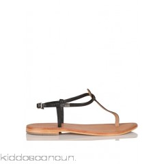 LES TROPEZIENNES - Women - Narvil flat leather toe-post sandals ADOQm2Nx