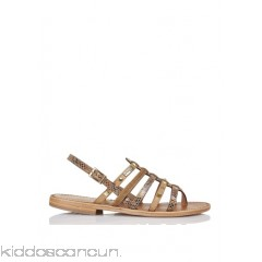LES TROPEZIENNES - Women - Snakeskin-print leather sandals 69YT3HQQ