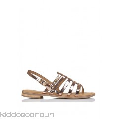 LES TROPEZIENNES - Women - Strappy metallic leather sandals BGsYIU96