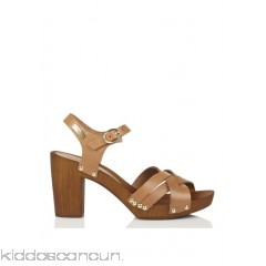 LES TROPEZIENNES - Women - Valentia leather heeled sandals DIUGsSj4