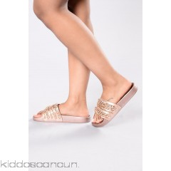 Let's Link Sliders - Rose Gold - Womens Sandals 1i5o6fcy