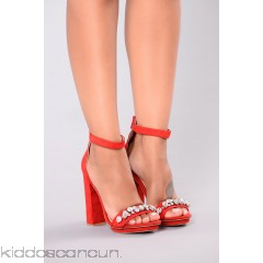 Classy Jeweled Heel - Red - Womens Heels Bchhp1Is