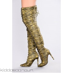 Puff Puff Lace Up Boot - Camo - Womens Heels 0b0bGiO6