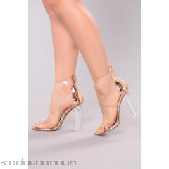 Rosy Clear Heel - Rose Gold - Womens Heels 2OaqimeU