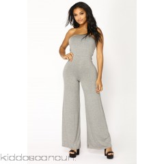 Breanne Tube Jumpsuit - Heather Grey - Womens Jumpsuits udhxhBF8