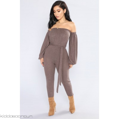Don't Cry On My Shoulder Jumpsuit - Mocha - Womens Jumpsuits 7QLlOtTb