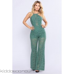 Forest Falls Lace Jumpsuit - Green - Womens Jumpsuits UPq7jnOl