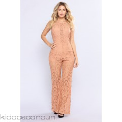 Forest Falls Lace Jumpsuit - Rust - Womens Jumpsuits yamKioCX