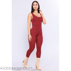 Need A Boost Jumpsuit - Burgundy - Womens Jumpsuits WiXp0gh8