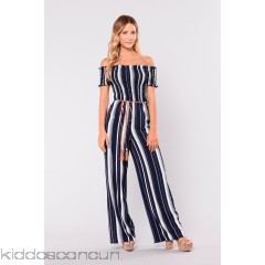 Never At Fault Jumpsuit - Navy Stripe - Womens Jumpsuits pJ4MM9W1