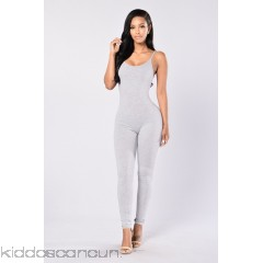 Nova Season Jumpsuit - Heather Grey - Womens Jumpsuits m37Lcaqa