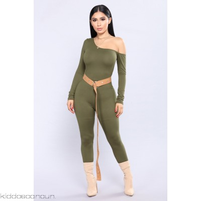 One Direction Jumpsuit - Olive - Womens Jumpsuits Hln4D7xa