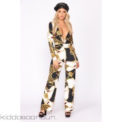 Sugar Kiss Jumpsuit - Black/Yellow - Womens Jumpsuits UpuvbG4G