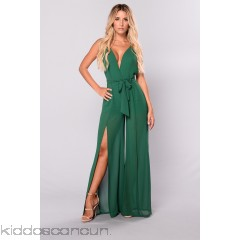 Tamia Chiffon Jumpsuit - Hunter Green - Womens Jumpsuits K9aU6IQW