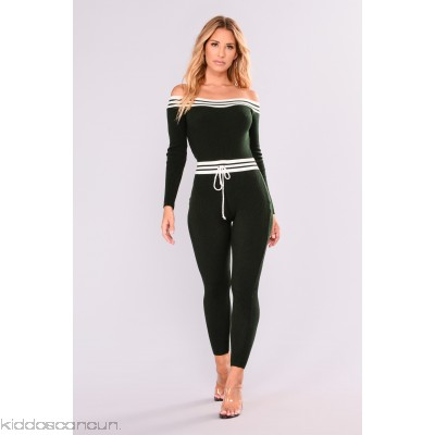 What I Love Knit Jumpsuit - Hunter Green - Womens Jumpsuits tz5daplU