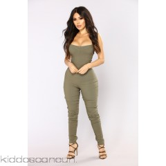 Wrong Turn Jumpsuit - Olive - Womens Jumpsuits URrfNoFo