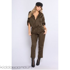 You Better Work Woven Jumpsuit - Olive - Womens Jumpsuits ejxvfqZi