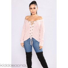 Alana Lace Up Sweater - Mauve - Womens Sweaters YgcbrF4n